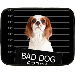 Bad Dog Fleece Blanket (mini) by Valentinaart