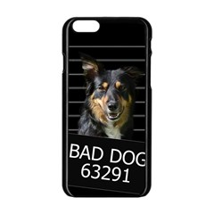 Bad Dog Apple Iphone 6/6s Black Enamel Case by Valentinaart