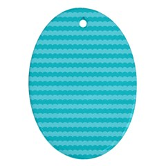 Abstract Blue Waves Pattern Ornament (oval) by TastefulDesigns