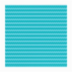 Abstract Blue Waves Pattern Medium Glasses Cloth