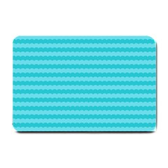 Abstract Blue Waves Pattern Small Doormat
