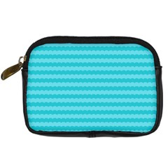 Abstract Blue Waves Pattern Digital Camera Cases