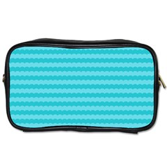 Abstract Blue Waves Pattern Toiletries Bags