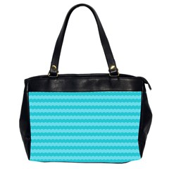 Abstract Blue Waves Pattern Office Handbags (2 Sides)  by TastefulDesigns