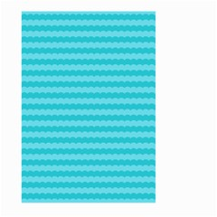 Abstract Blue Waves Pattern Large Garden Flag (two Sides)