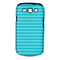 Abstract Blue Waves Pattern Samsung Galaxy S Iii Classic Hardshell Case (pc+silicone)