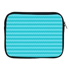 Abstract Blue Waves Pattern Apple Ipad 2/3/4 Zipper Cases