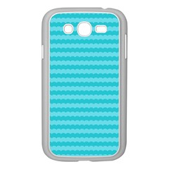 Abstract Blue Waves Pattern Samsung Galaxy Grand Duos I9082 Case (white)