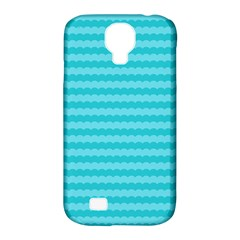 Abstract Blue Waves Pattern Samsung Galaxy S4 Classic Hardshell Case (pc+silicone)