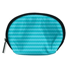 Abstract Blue Waves Pattern Accessory Pouches (medium)