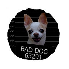 Bad Dog Standard 15  Premium Round Cushions by Valentinaart