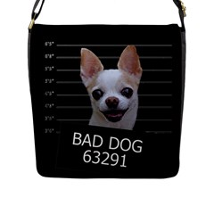 Bad Dog Flap Messenger Bag (l)