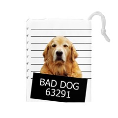 Bad Dog Drawstring Pouches (large)