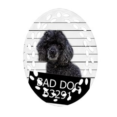Bad Dog Oval Filigree Ornament (two Sides) by Valentinaart