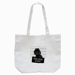 Bad Dog Tote Bag (white) by Valentinaart