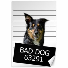 Bad Dog Canvas 24  X 36  by Valentinaart