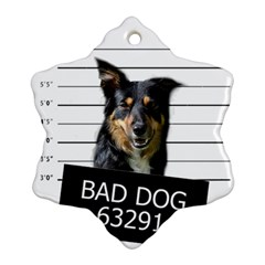 Bad Dog Snowflake Ornament (two Sides)