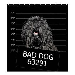 Bad Dog Shower Curtain 66  X 72  (large)  by Valentinaart