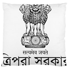 Seal Of Indian State Of Tripura Large Cushion Case (two Sides) by abbeyz71