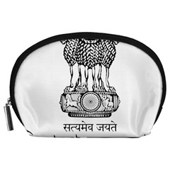 Seal Of Indian State Of Tripura Accessory Pouches (large)  by abbeyz71
