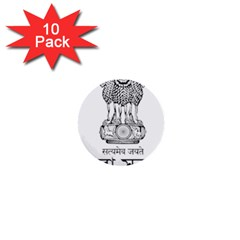 Seal Of Indian State Of Tripura 1  Mini Buttons (10 Pack)  by abbeyz71