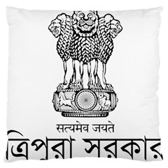 Seal Of Indian State Of Tripura Standard Flano Cushion Case (two Sides) by abbeyz71