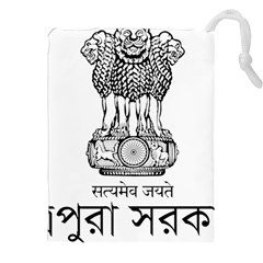 Seal Of Indian State Of Tripura Drawstring Pouches (xxl) by abbeyz71