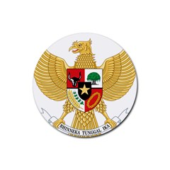National Emblem Of Indonesia  Rubber Coaster (round)  by abbeyz71