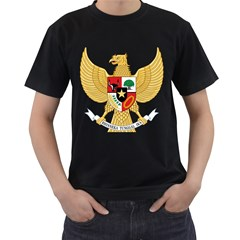 National Emblem Of Indonesia  Men s T Shirt (black) (two Sided) by abbeyz71
