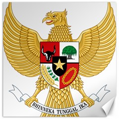 National Emblem Of Indonesia  Canvas 12  X 12   by abbeyz71