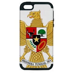 National Emblem Of Indonesia  Apple Iphone 5 Hardshell Case (pc+silicone) by abbeyz71