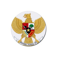 National Emblem Of Indonesia  Rubber Round Coaster (4 Pack)  by abbeyz71