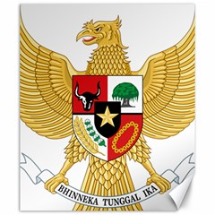 National Emblem Of Indonesia  Canvas 20  X 24   by abbeyz71