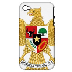National Emblem Of Indonesia  Apple Iphone 4/4s Hardshell Case (pc+silicone) by abbeyz71
