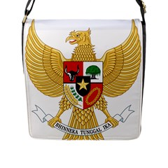 National Emblem Of Indonesia  Flap Messenger Bag (l)  by abbeyz71