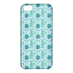 Flowers And Leaves Pattern Apple Iphone 5c Hardshell Case by TastefulDesigns