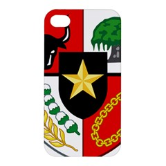 Shield Of National Emblem Of Indonesia Apple Iphone 4/4s Hardshell Case by abbeyz71