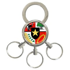 Shield Of National Emblem Of Indonesia  3 Ring Key Chains by abbeyz71