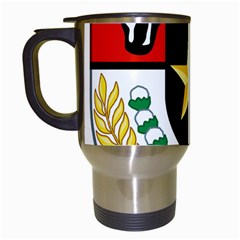Shield Of National Emblem Of Indonesia  Travel Mugs (white) by abbeyz71