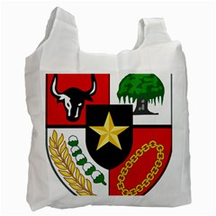 Shield Of National Emblem Of Indonesia  Recycle Bag (two Side)  by abbeyz71