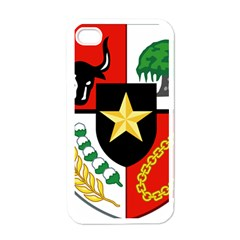 Shield Of National Emblem Of Indonesia  Apple Iphone 4 Case (white) by abbeyz71