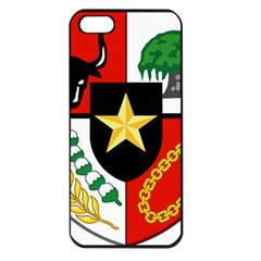 Shield Of National Emblem Of Indonesia  Apple Iphone 5 Seamless Case (black) by abbeyz71