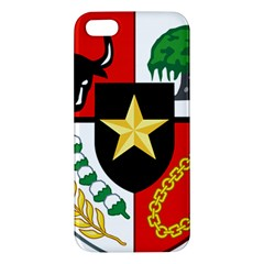 Shield Of National Emblem Of Indonesia  Apple Iphone 5 Premium Hardshell Case by abbeyz71
