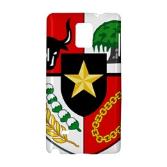 Shield Of National Emblem Of Indonesia  Samsung Galaxy Note 4 Hardshell Case by abbeyz71