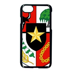 Shield Of National Emblem Of Indonesia  Apple Iphone 7 Seamless Case (black) by abbeyz71