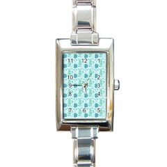 Seamless Floral Background  Rectangle Italian Charm Watch