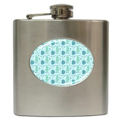 Seamless Floral Background  Hip Flask (6 Oz)