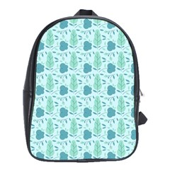 Seamless Floral Background  School Bags (xl)