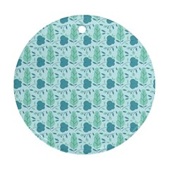 Seamless Floral Background  Ornament (round)