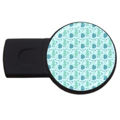 Seamless Floral Background  Usb Flash Drive Round (4 Gb)